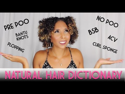 Natural Hair Dictionary! What do all of these words actually mean!?| BiancaReneeToday