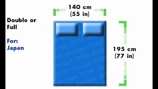 What are the measurements of a full size bed?
