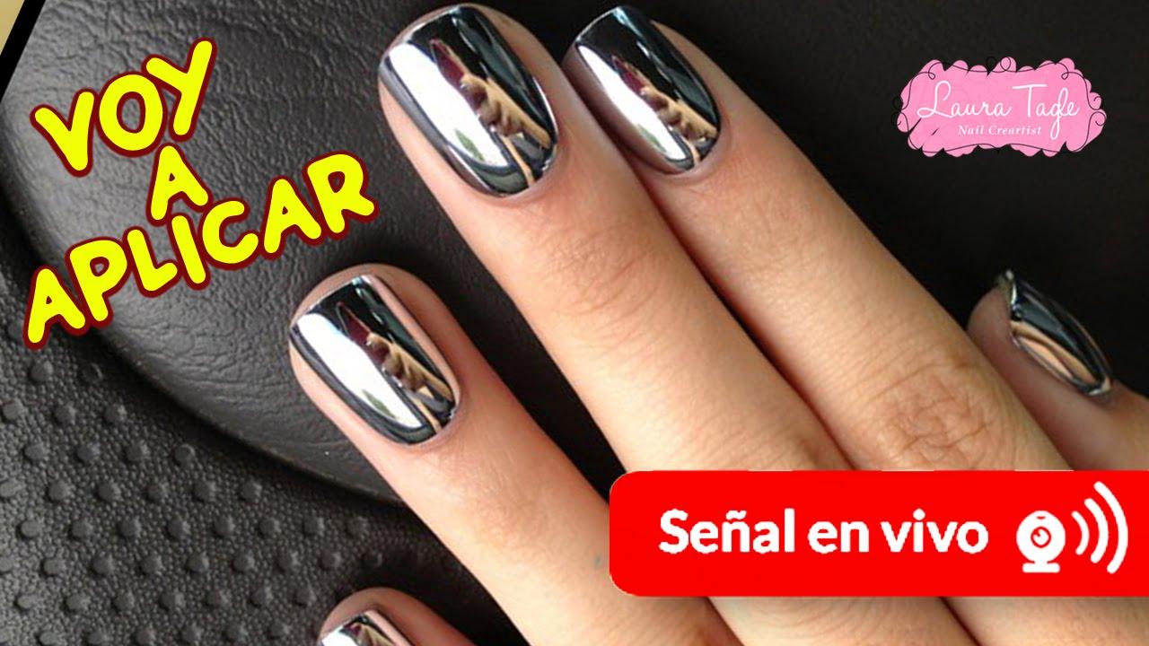 Voy a Aplicar uñas efecto Espejo en Torreón - YouTube