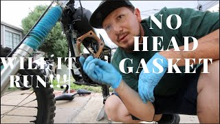 Running engine without head gasket!!