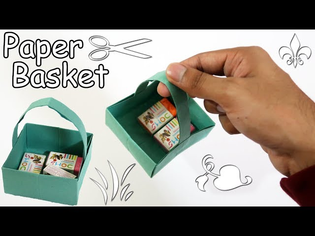 How to make a Paper Basket | Easy | Tutorial