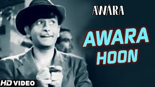 Awara Hoon - HD VIDEO   Awara   Raj Kapoor   Mukesh   Shankar Jaikishan   Ultimate Raj Kapoor Songs Resimi