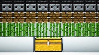 как сделать автоматическую ферму тростника в майнкрафте