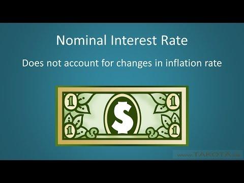Nominal vs. Real Interest