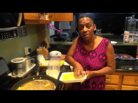 Auntie Fee shrimp fish & french fry dish