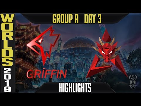 GRF vs HKA Highlights Game 1 | Worlds 2019 Group A Day 3 | Griffin vs Hong Kong Attitude