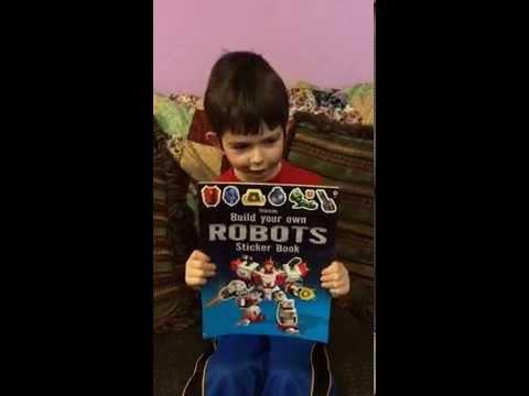 Robot Sticker Book by Usborne