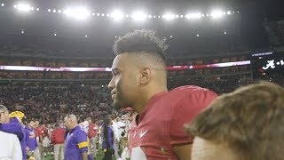 Follow Tua Tagovailoa off the field after Alabama's loss to LSU