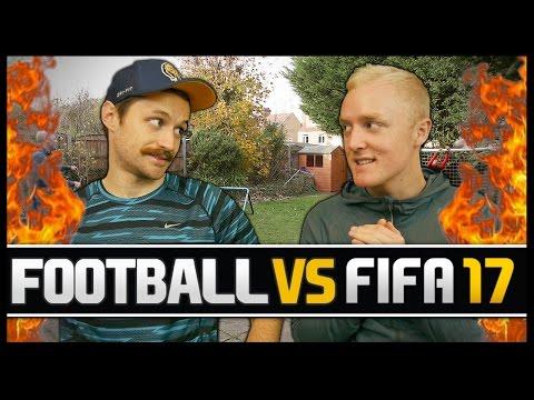 FOOTBALL VS FIFA WITH THEO BAKER!