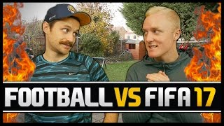 FOOTBALL VS FIFA WITH THEO BAKER!