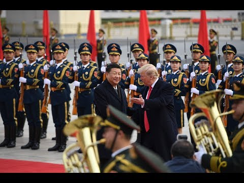 Star-Spangled Banner and Chinese Anthem (Trump in China - Welcoming + Stars and Stripes Forever)