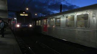 A Juvisy, croisements entre une Z5300 JOPA en provenance de Melun e...