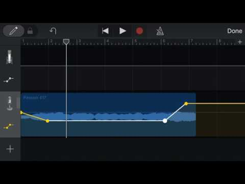 How to Make Fade Ins and Fade Outs in GarageBand on iPhone with Automation  Points