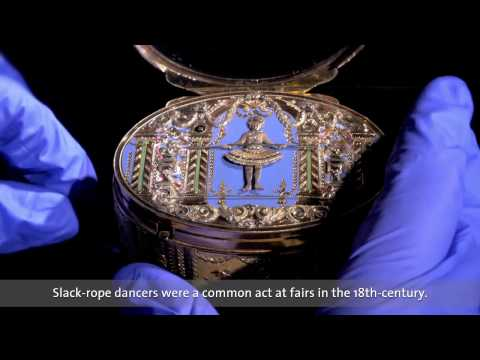 The slack rope dancer: An 18th-century music box
