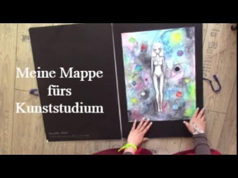 Meine Kunstmappe Art Portfolio Furs Kunststudium Youtube