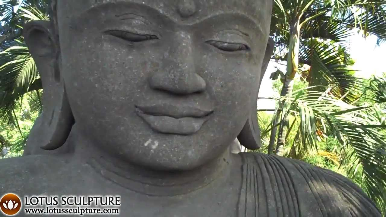 Large Meditating Garden Buddha Statue, Garden Buddha Stone Sculpture    YouTube