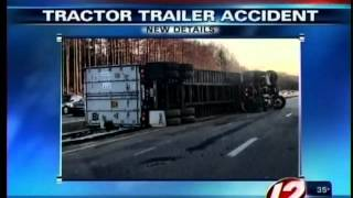 Tractor trailer accident in Freetown injures driver