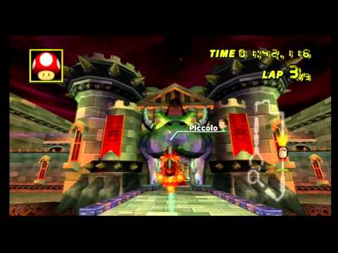 """Mario Kart Wii Time Trial: Bowser's Castle (2'28""""622)"""