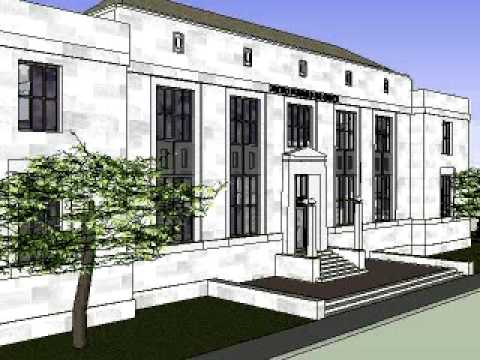 United States Post Office - Mount Airy, NC Google SketchUp Animation