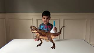 Father & Son turn T Rex into an alive toy
