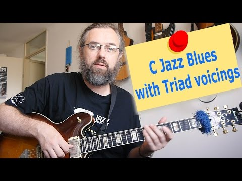 C Jazz Blues with triad voicings