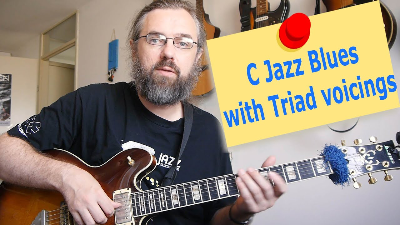 C Jazz Blues with triad voicings - Jens Larsen