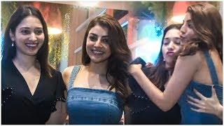 GORGEOUS Actresses Tamanna Bhatia & Kajal Aggarwal Spotted At Funqin At Juhu