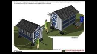 T300 - Chicken Tractor Plans Constrution - Chicken Trailer Plans