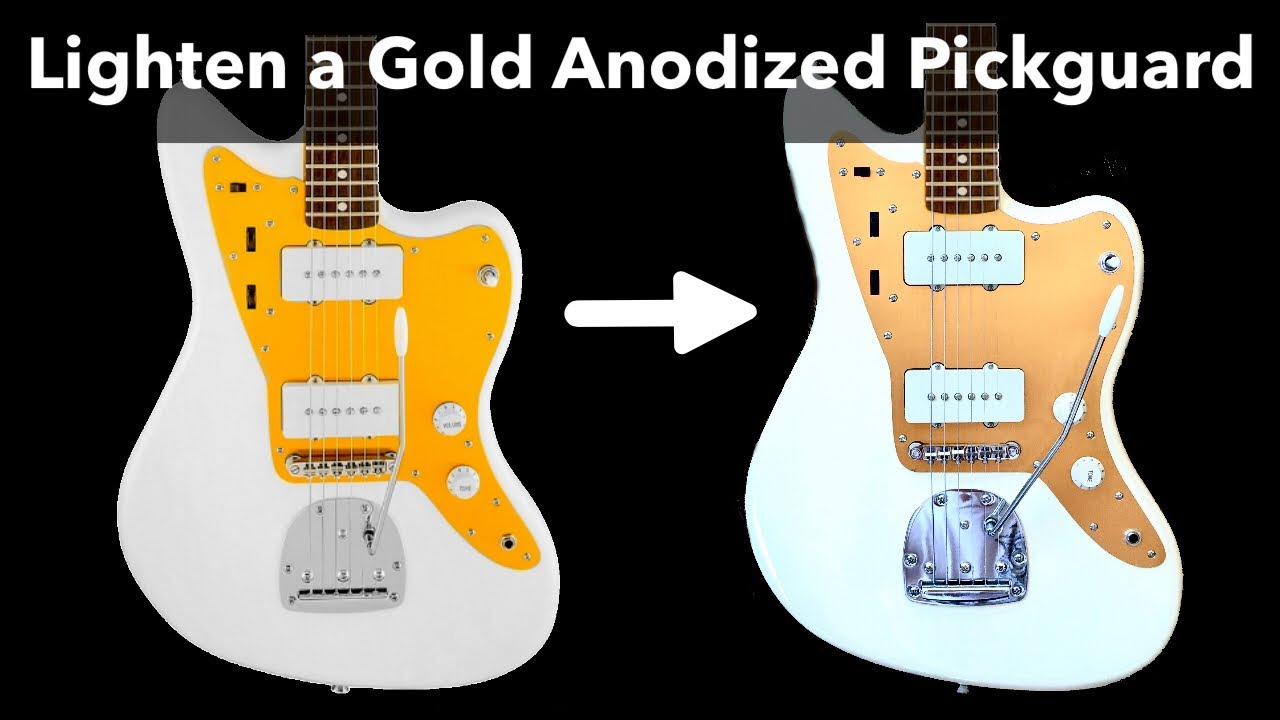 How to Change the Color of a Gold Anodized Pickguard