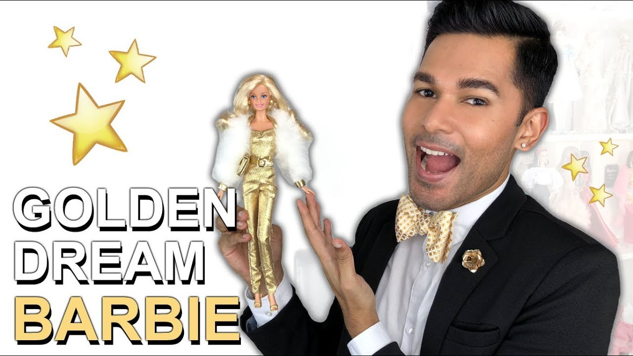 244bba15ffce5 GOLDEN DREAM Barbie Doll - Barbie Collector - Review - YouTube