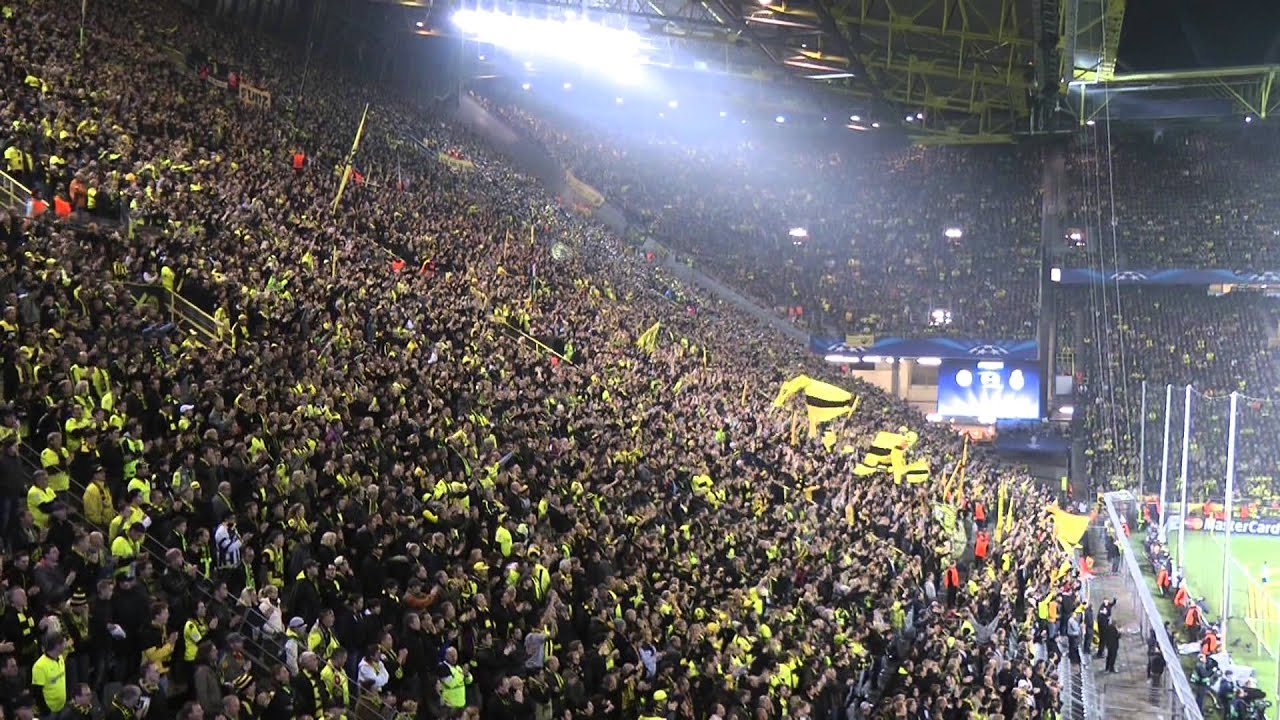 Borussia Dortmund vs Real Madrid 2-1 Atmosphere Part 2 Fans BVB Champions League