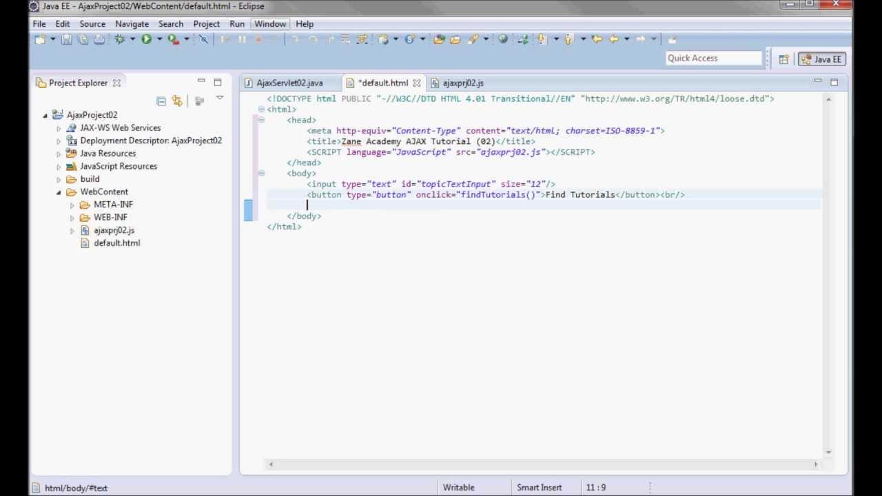 AJAX (Tutorial 02) - JAVA Servlet + Parse XML w/ JavaScript