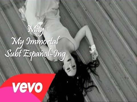 letra de la cancion my inmortal con: