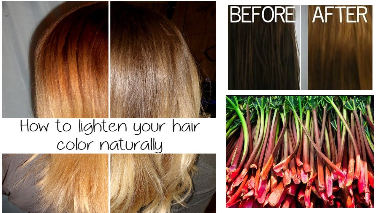 How to Lighten Your Hair Color Naturally: Safe your Hair from ...