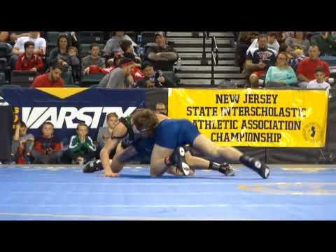 132-pound State Final: Lucas Revano (Camden Catholic) dec. Kyle Slendorn (Howell), 4-3