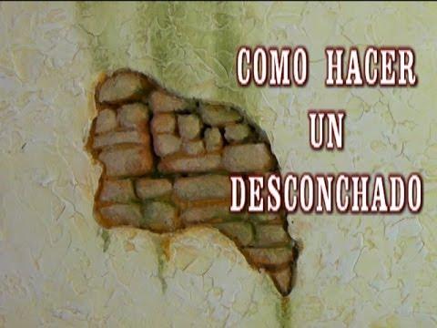 Diy pared de piedra con desconchado chipped the walls of - Imitacion a ladrillo ...