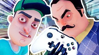 The Neighbor's In My Xbox!!!  Hello Neighbour Full Game