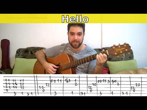 Fingerstyle Tutorial: Hello (L. Richie) - Guitar Lesson W/ TAB