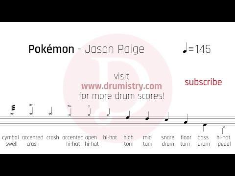 Jason Paige - Pokemon Drum Score