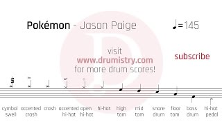 Jason Paige - Pokemon Drum Score