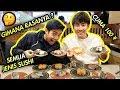 MANTAP! SUSHI PALING MURAH DI JEPANG! ¥100 SUSHI - HAMAZUSHI はま寿司で食べる