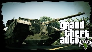 World of Tanks w GTA? - GTA Online [FUNNY MOMENTS] /w Flothar, Manoyek, Mattyniu