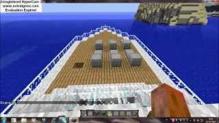 Barco no minecraft que anda(com mod boats and ships)