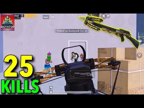 can-i-survive-with-crossbow-against-full-squad---25-kills-solo-vs-squad---pubg-mobile