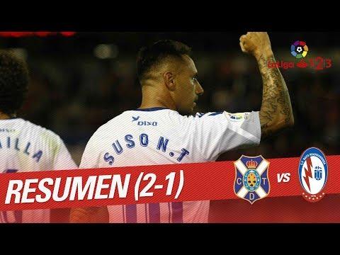 Resumen de CD Tenerife vs CF Rayo Majadahonda (2-1)