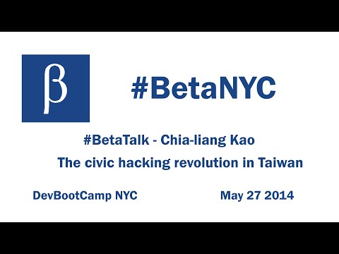 clkao - The civic hacking revolution in Taiwan, a BetaTalk
