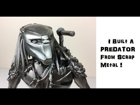 Time Lapse How To Weld A Predator Sculpture From Scrap Recycled Metal