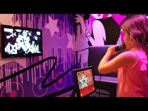 Karaoke time at Madam Tussauds in Amsterdam, Netherlands