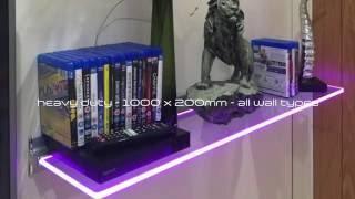 Floating Illuminated Glass Shelf - Levitas Design - AURO
