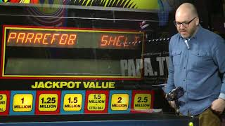 Bowen Kerins plays a tutorial on the Earthshaker pinball machine at...